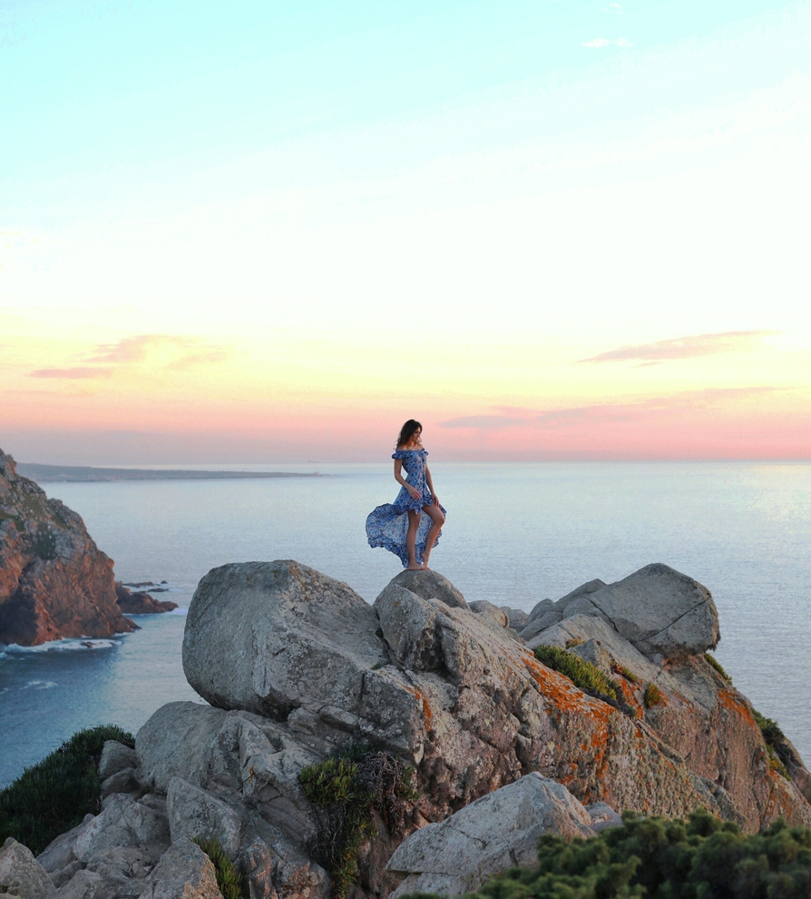 Cabo Da Roca, at sunset