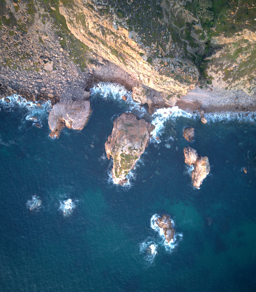 Aerial view of Portugal's western coast