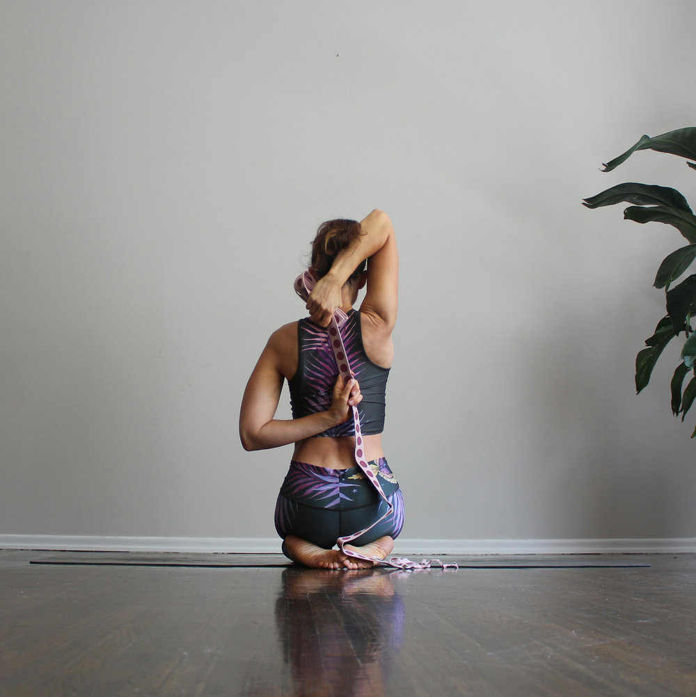 Gomukhasana Arms using a Strap