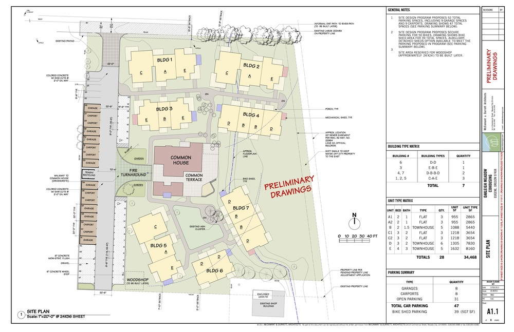Plans Oakleigh Meadow Cohousing