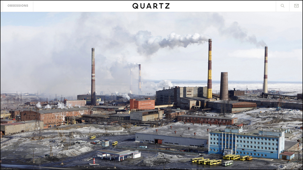 Mar. 4, 2015 - Quartz    The Hidden Cost of Climate Change Read  Article