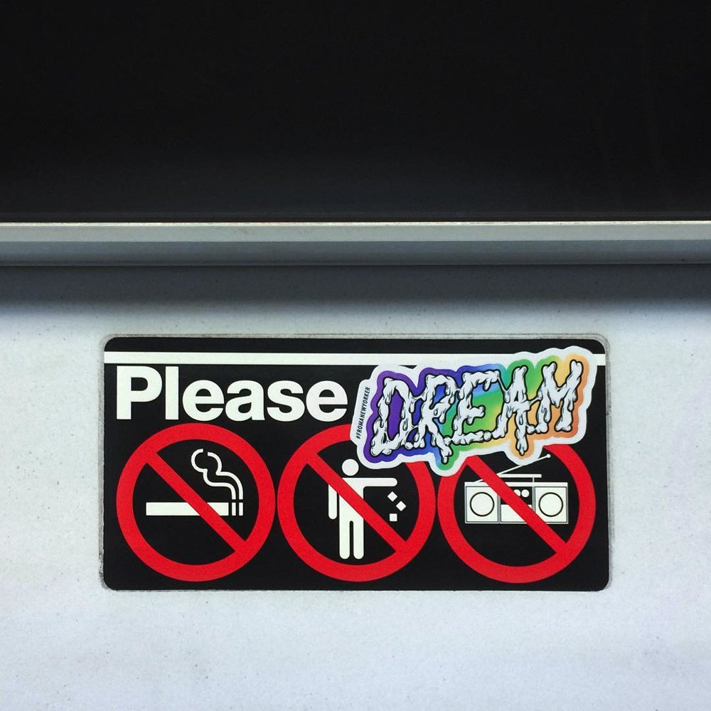 I turned it into a sticker and slapped them onto a few 7 trains (my home train—what's goodie?).