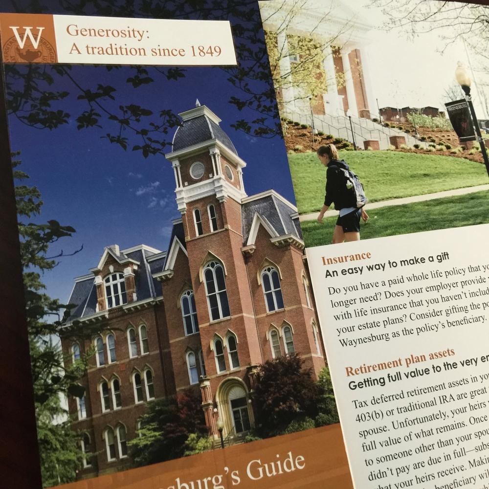 University Advancement Donation Brochure