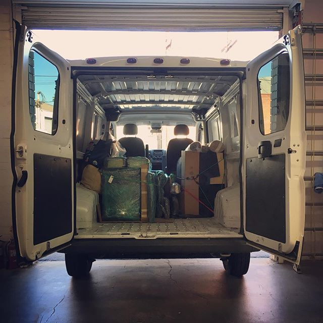 Loading day! Excited to drive this beast to NM and install all the pieces I've been busily working on for the past 8 weeks 🚐🏜🙂