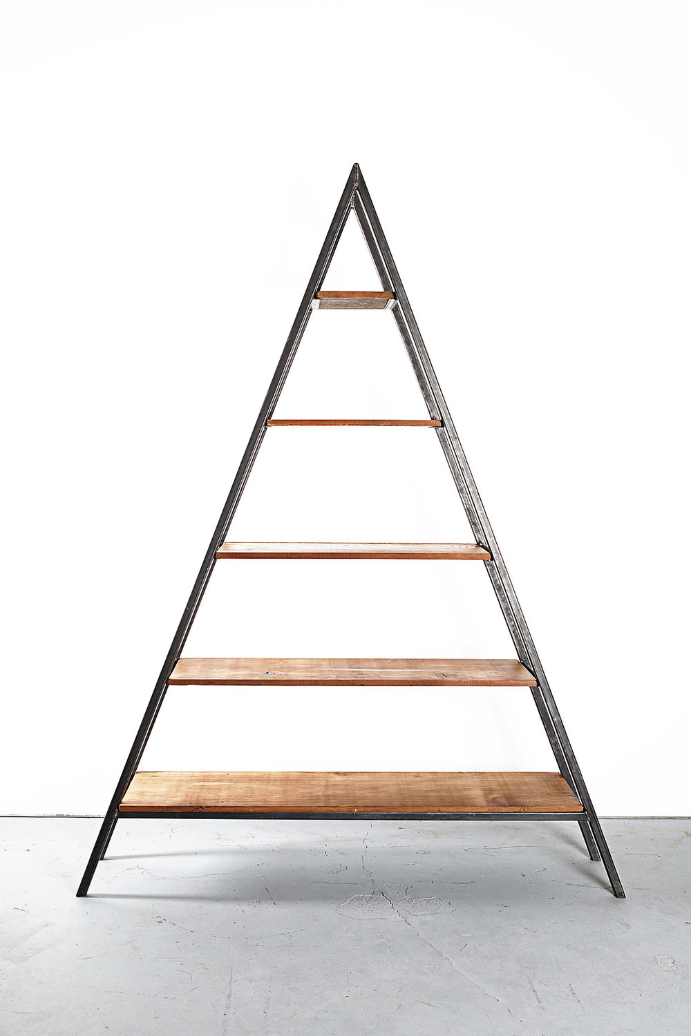 Custom Reclaimed Fir Triangle Shelving