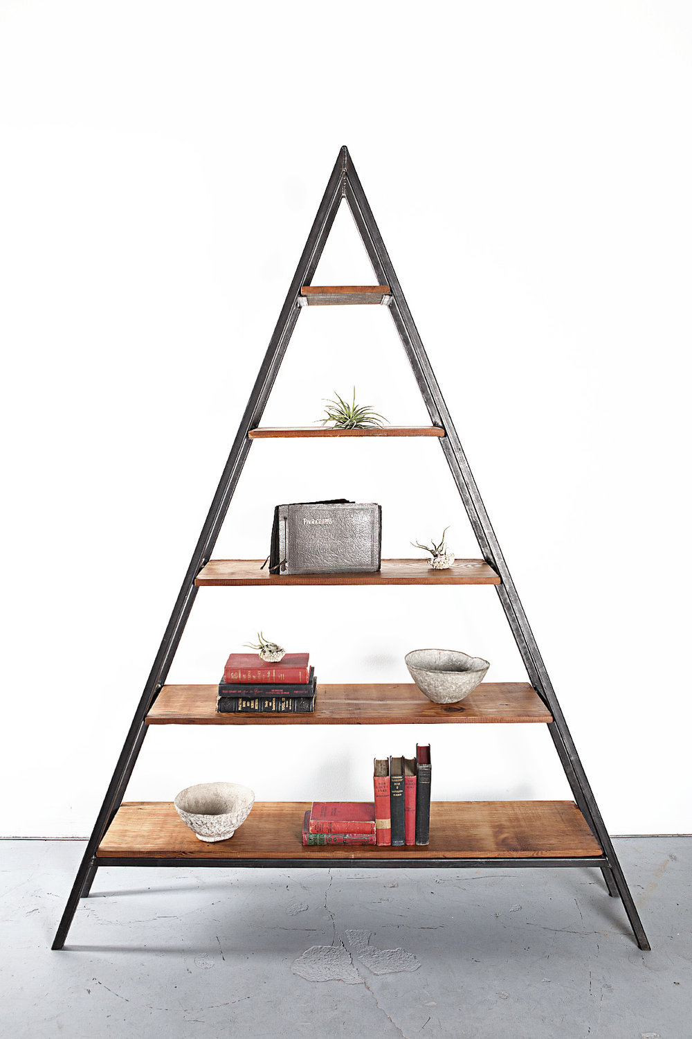 Custom Reclaimed Fir Triangle Shelf