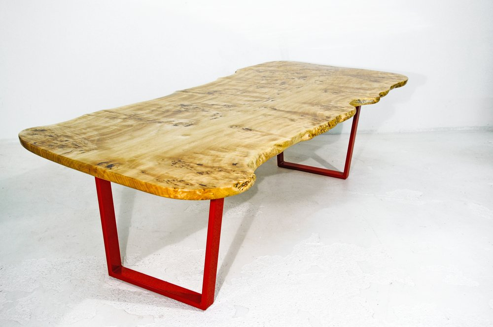 Mappa Burl Live Edge Slab Dining Table
