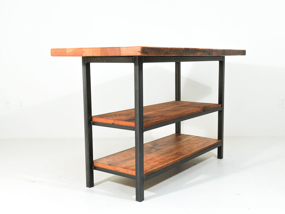 Reclaimed Wood Eat In Kitchen Island