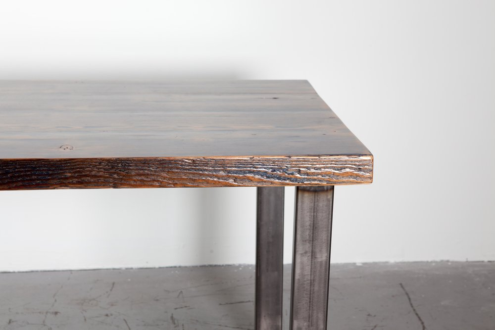 Indigo Blue Reclaimed Fir Dining Table