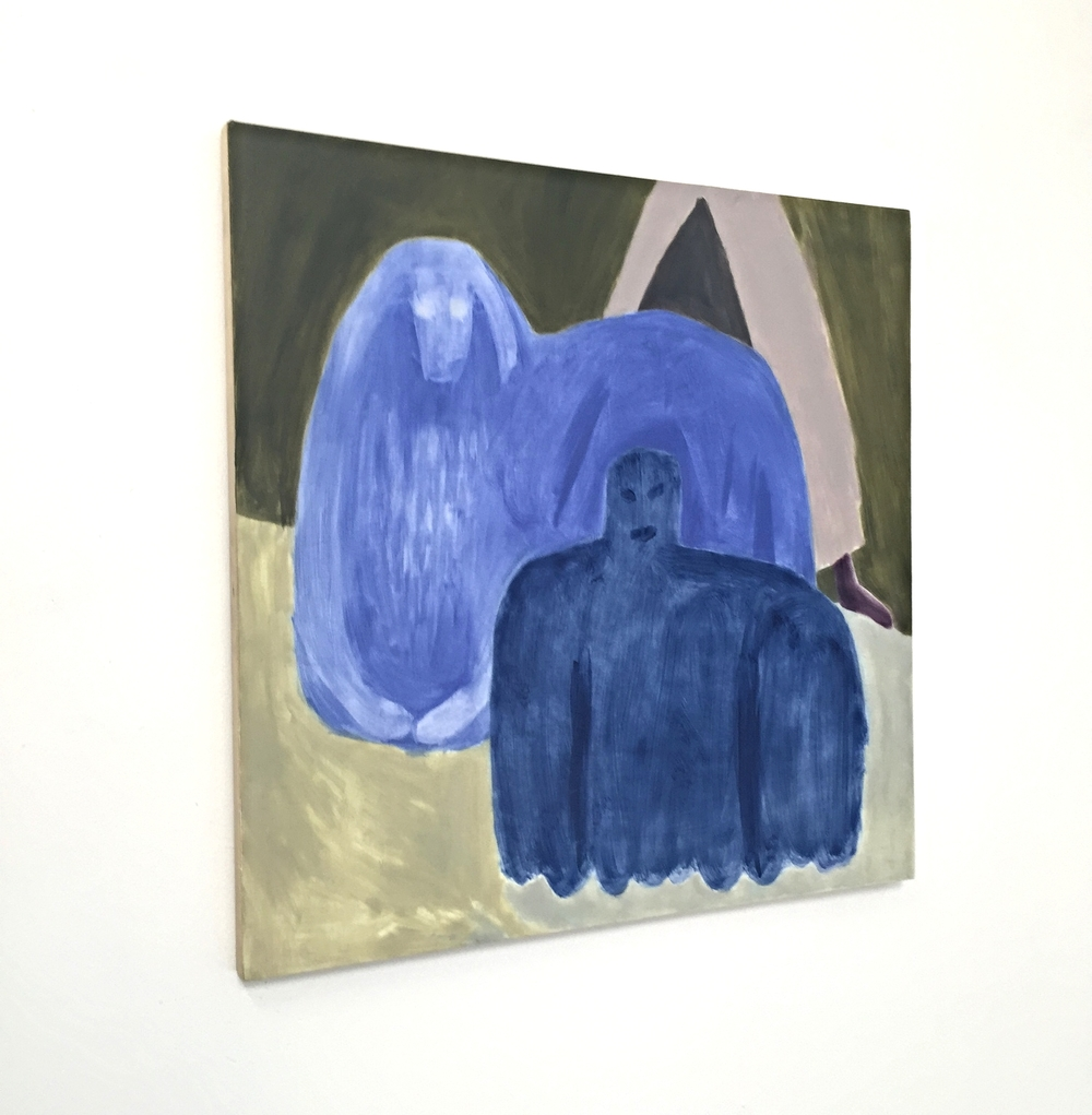 Ginny Casey,  Blue Figures