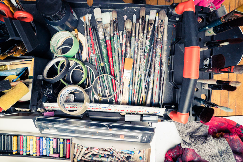 5 SAM SAMARA MARLEE SHUTER STUDIO PAINTING TORONTO ARTIST