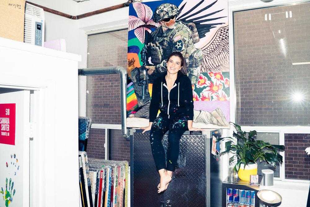 10 SAM SAMARA MARLEE SHUTER STUDIO PAINTING TORONTO ARTIST