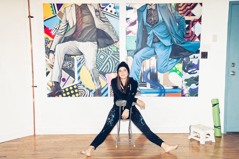 7 SAM SAMARA MARLEE SHUTER STUDIO PAINTING TORONTO ARTIST