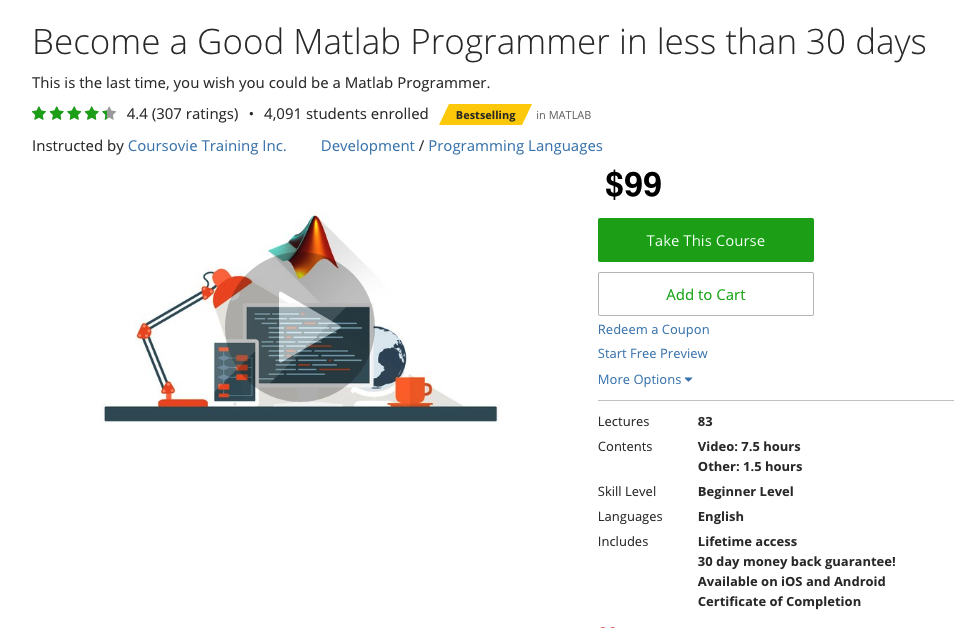 Matlab Programming for Beginners, Coursovie Training Inc. All Rights Reserved.
