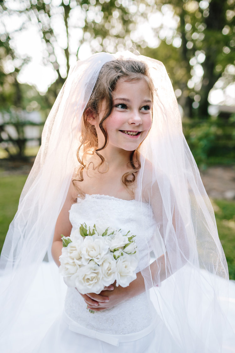 Ali Was The Perfect Little Model So Excited To Play Dress Up In Her Mothers Wedding Will Display One Of These Portraits On Day
