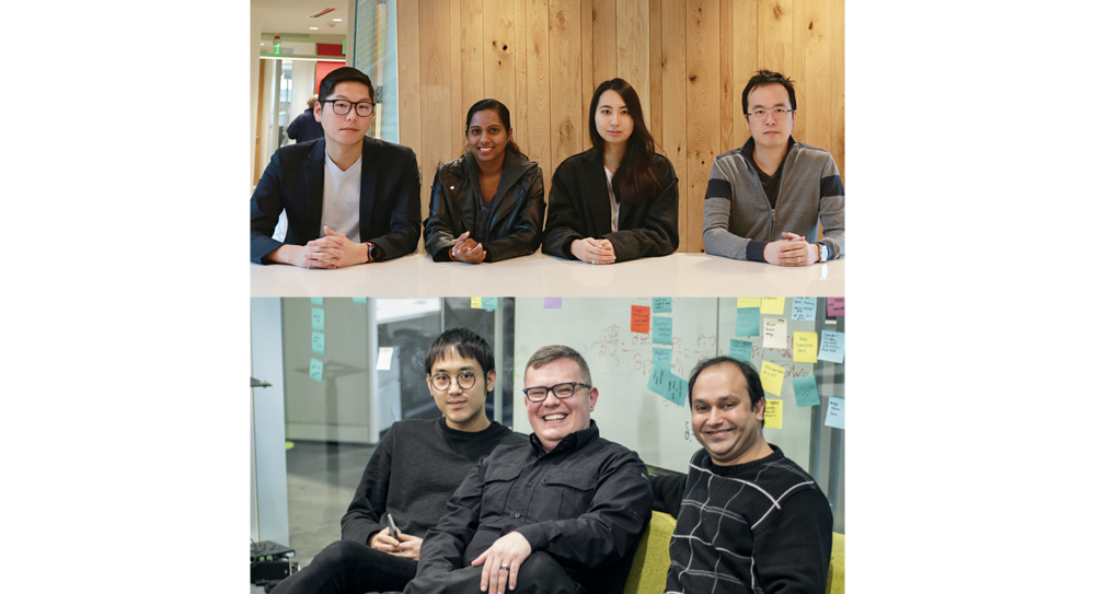 The team (Top left to clock-wise): Steve Won, Nishadi Kolonne, Sunmin Chung, Benny Chau, Jignesh Panchal, Elmar Langholz, Jason Kim
