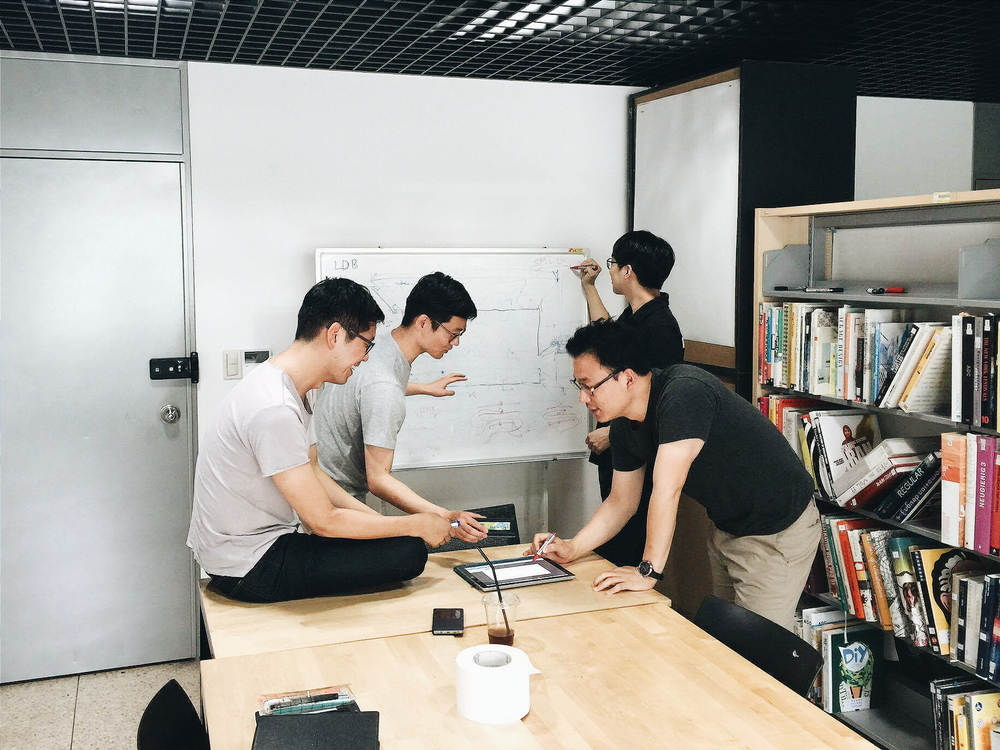Workshop in Seoul in June 2016  (From left clockwise: Sungjoon Steve Won, Austin S. Lee, Kiheon Shin, Goo-Ryong Kang)