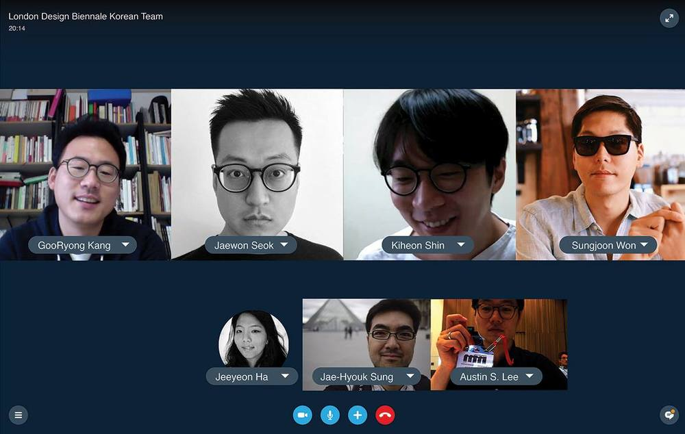 The team was spread across continents. For most of the 9 months project period, we collaborated over Skype. Sungjoon Steve, Austin S. in the U.S // Goo-Ryong, Jaewon, Kiheon, Jae-Hyouk in Seoul // Jeeyeon in U.K.