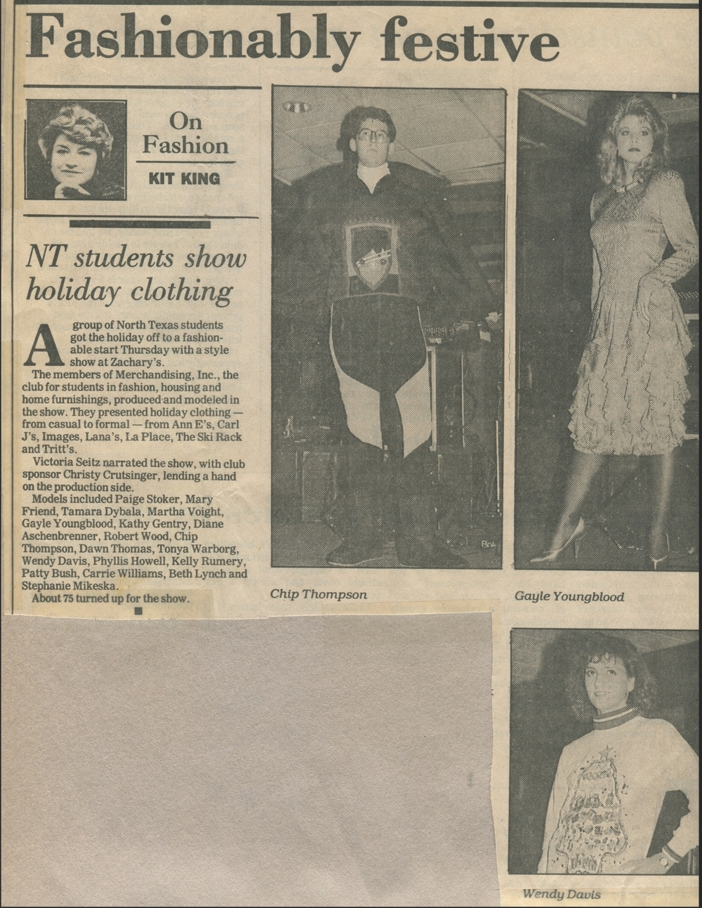 """NT students show holiday clothing"" (1988)- Kit King"