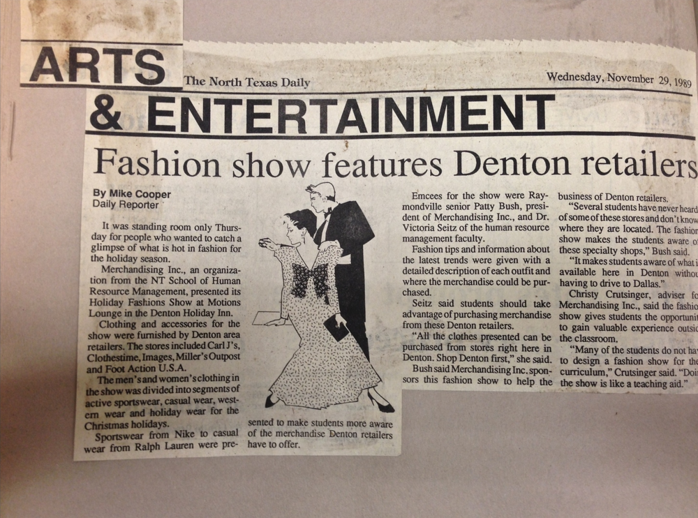 """Fashion show features Denton retailers"" (1989)- Mike Cooper"