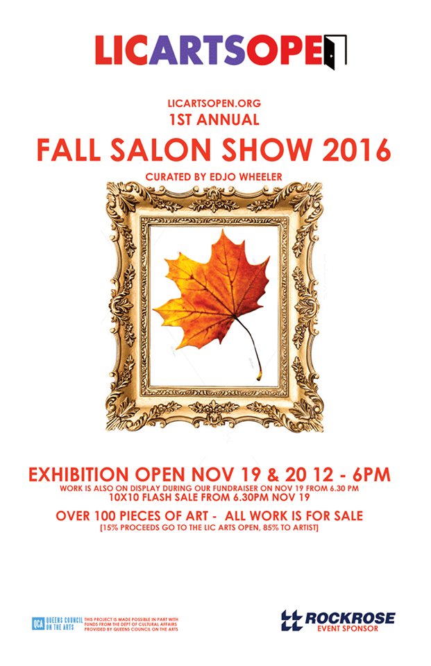 I will be showing one of my sculptures at the LIC Fall Salon this coming Saturday. I hope to see you there!
