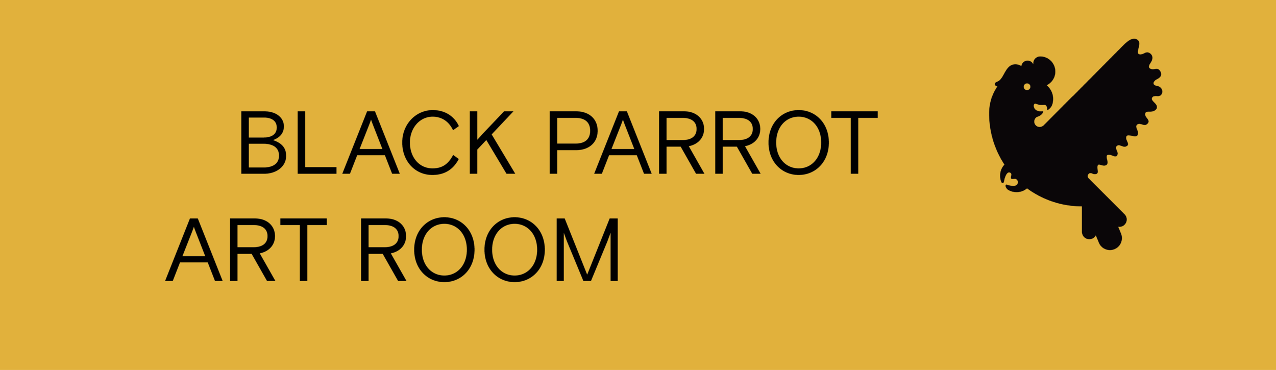 Black Parrot Art Room