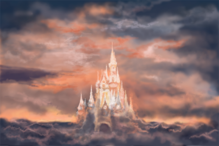 """Cloud Castle"" by Natalia Skorokhodt (this is close to my imagination's version of the Dream Hotel)"