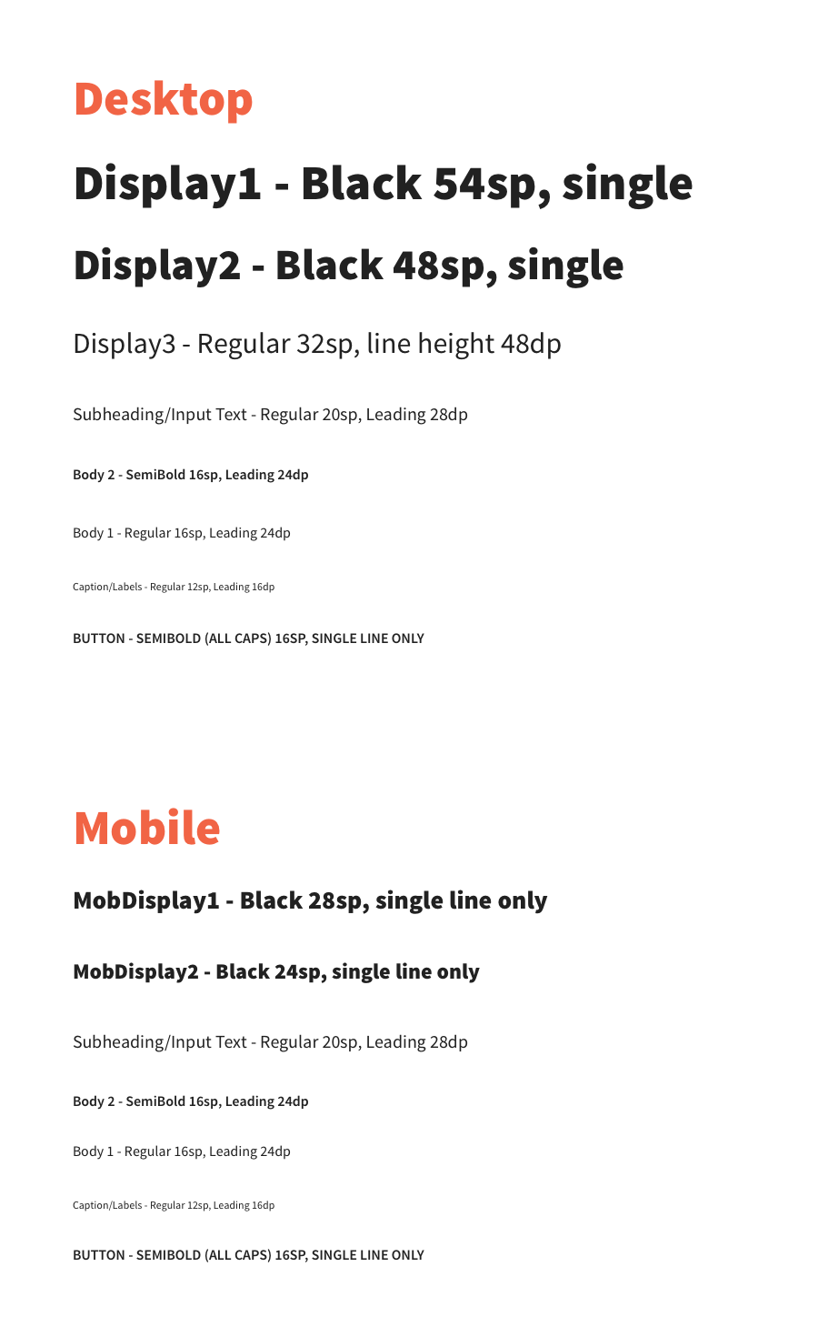 Standardized type system across breakpoints,  Source Sans Pro