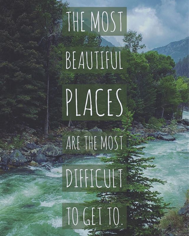 The most #beautiful places are the most difficult to get to.