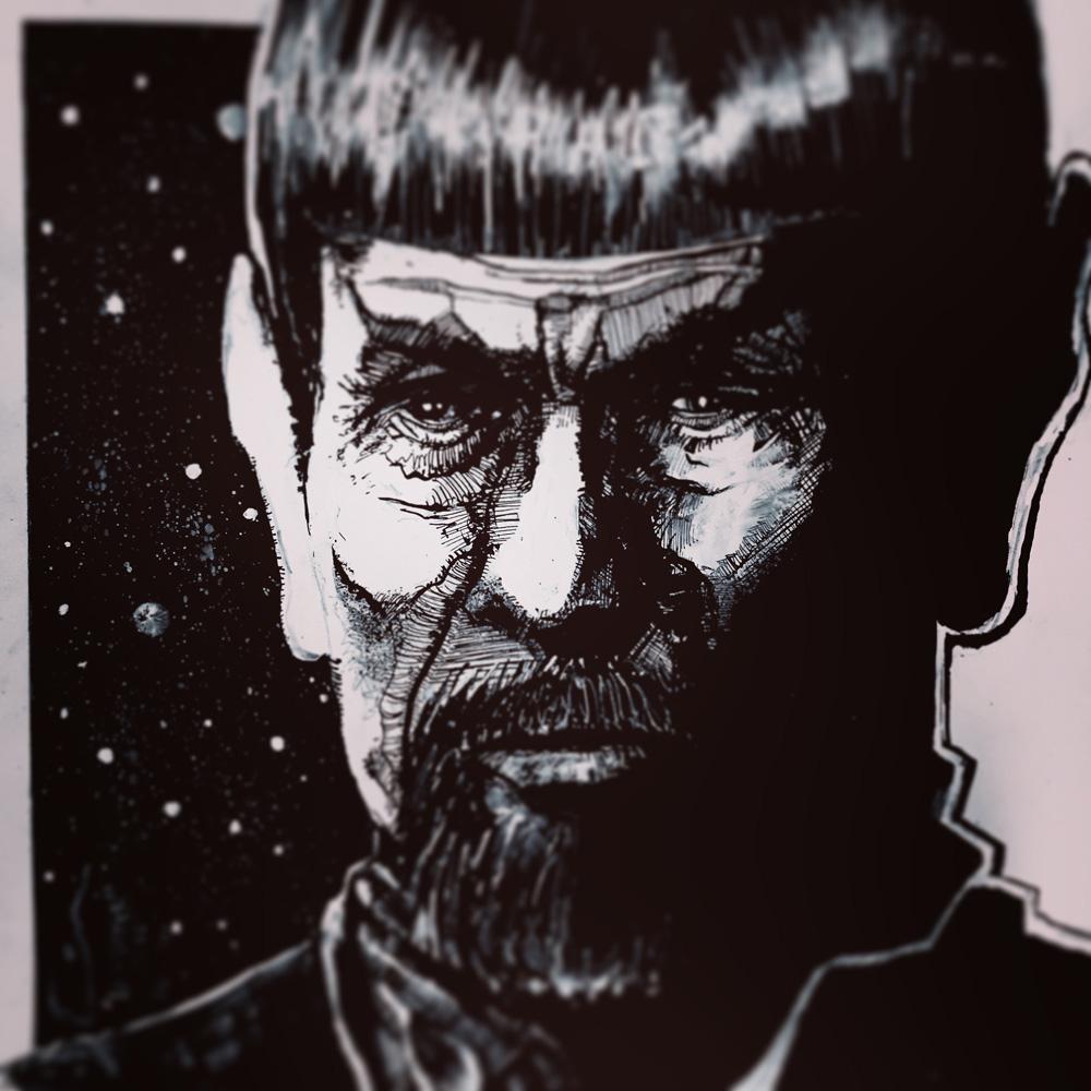 10.26.2015 Everyday Number 26 Commander Spock (Mirror)
