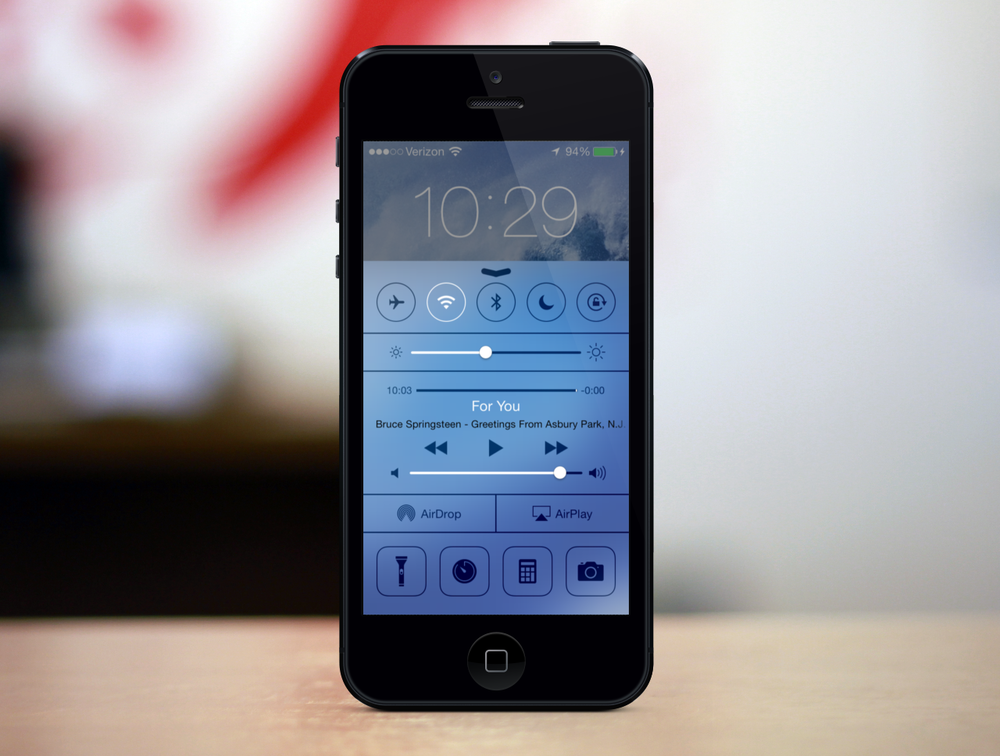 Control Panel in iOS 7
