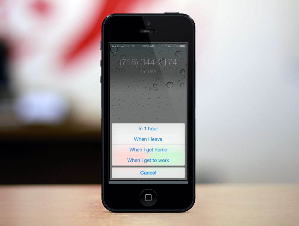 Call Reminders in iOS 7