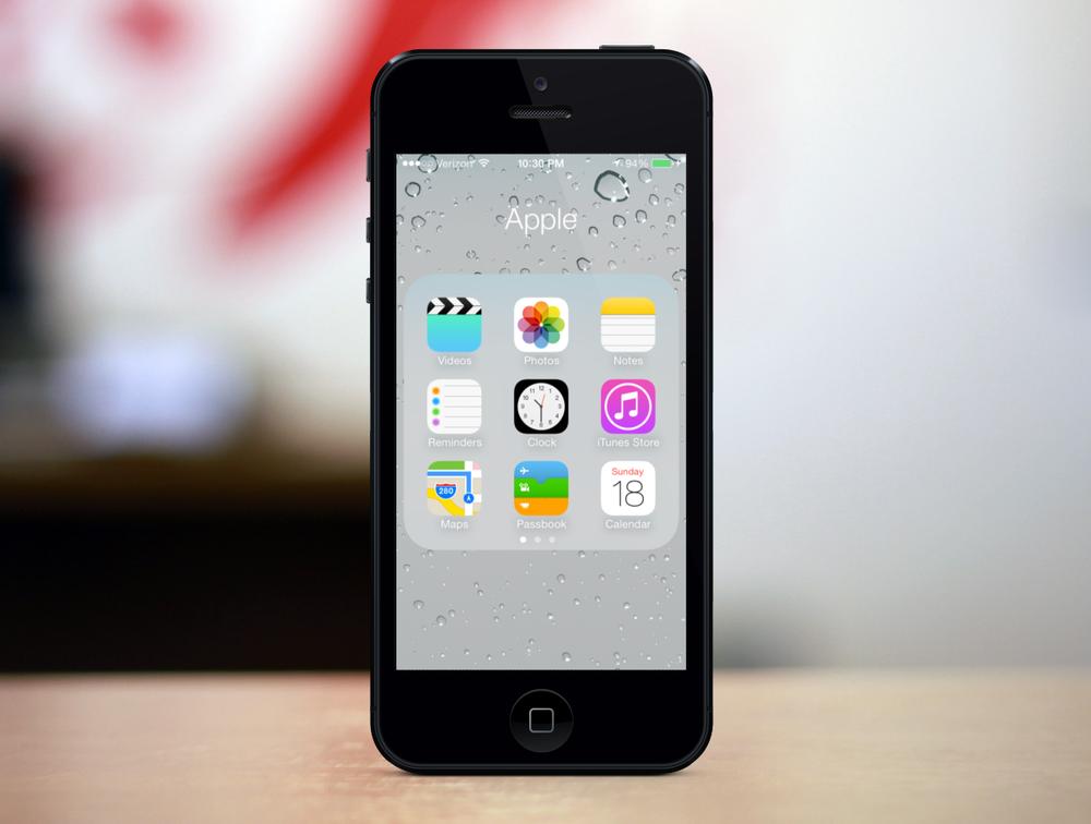 Folders in iOS 7