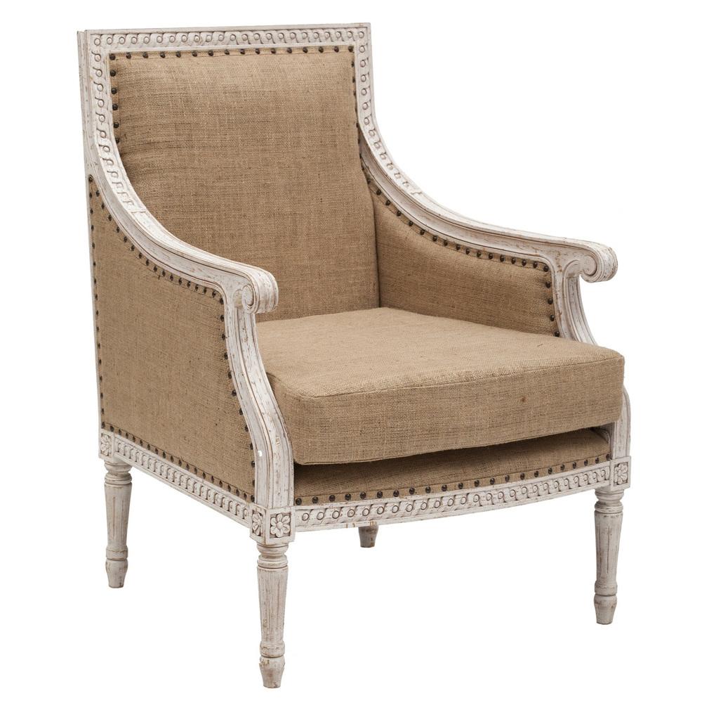Gentil Isabelle Club Chair_1. Isabelle Burlap Chair
