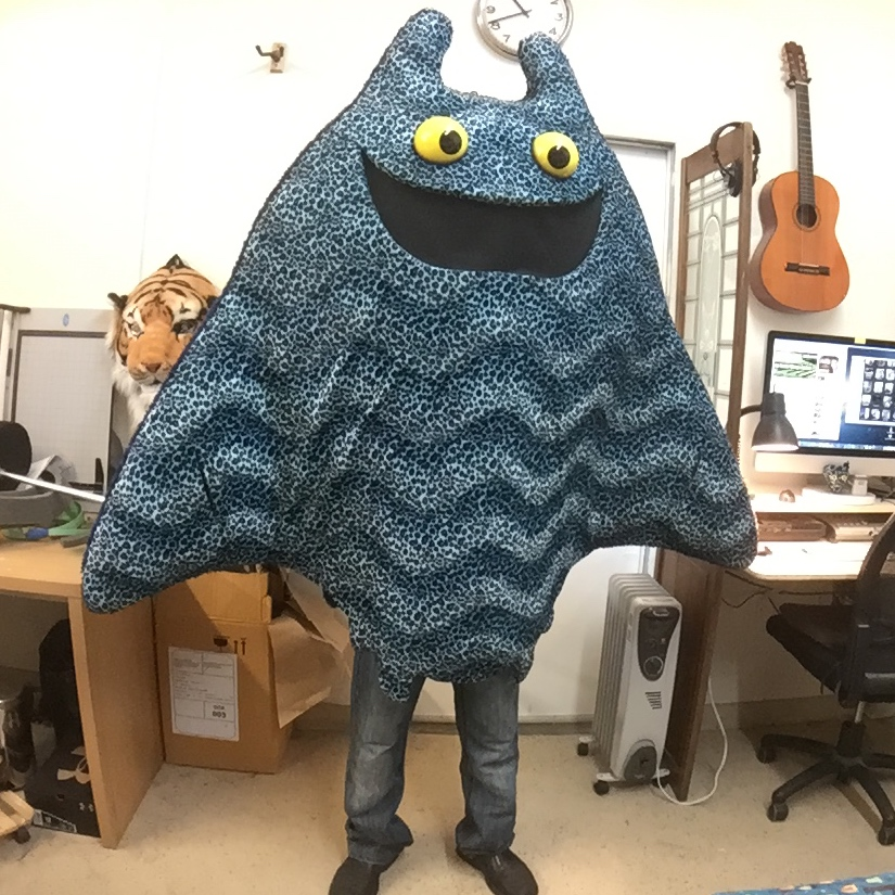 Manta Ray mascot character costume by Matthew McAvene.JPG