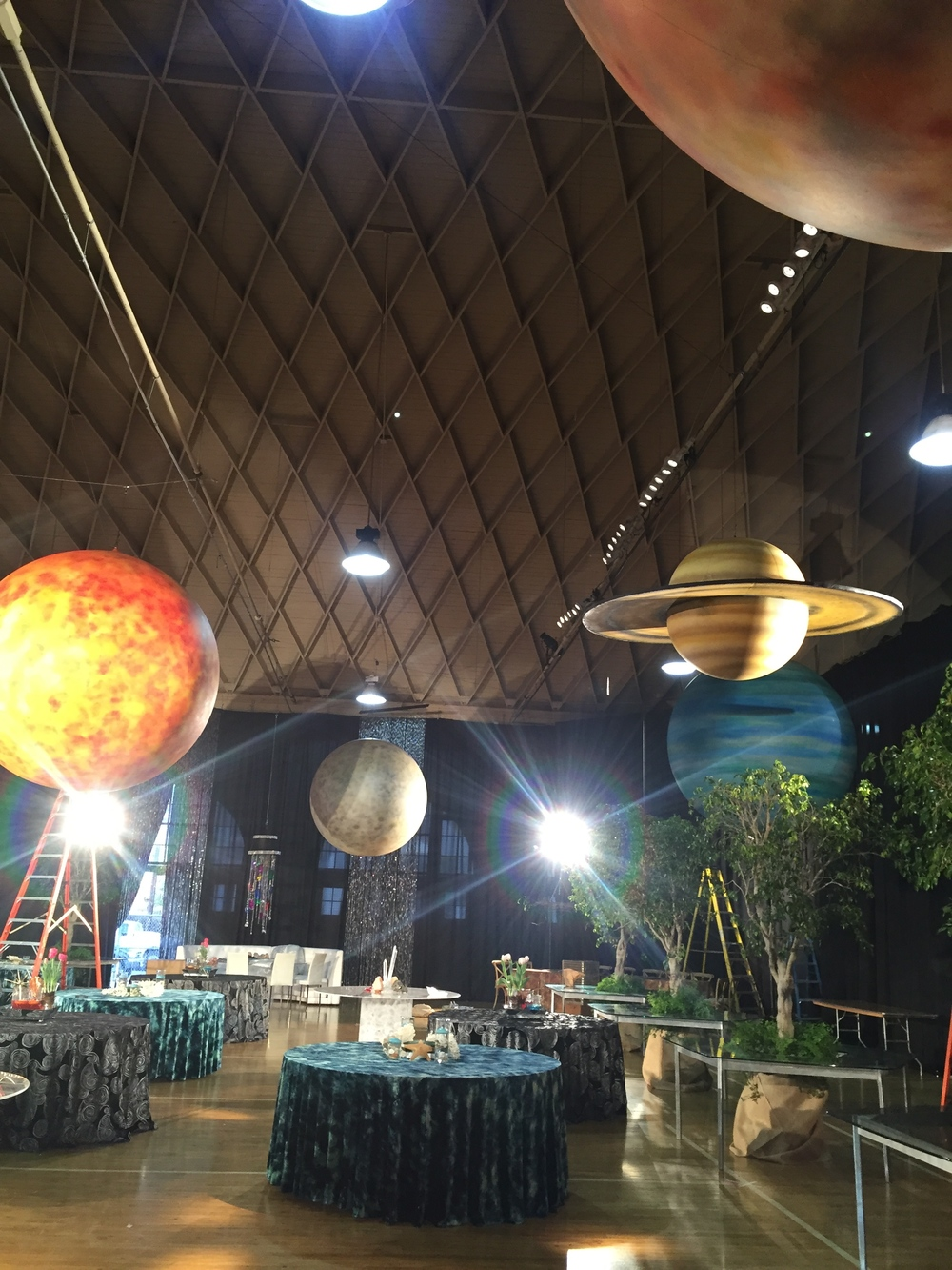 Planets by Matthew McAvene Santa Barbara Museum of Natural History 100 year Anniversary Party Setting Up.jpg