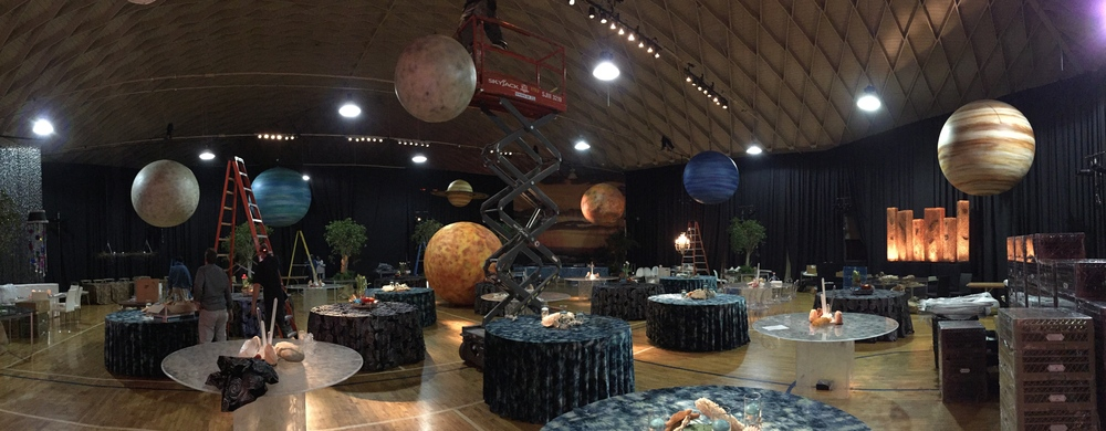 Planets by Matthew McAvene Santa Barbara Museum of Natural History 100 year Anniversary Party Set Up.JPG
