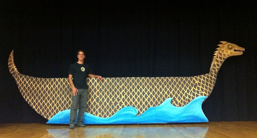 Rolling Dragon Boat Set Prop for King and I by Matthew McAvene Creations.jpg