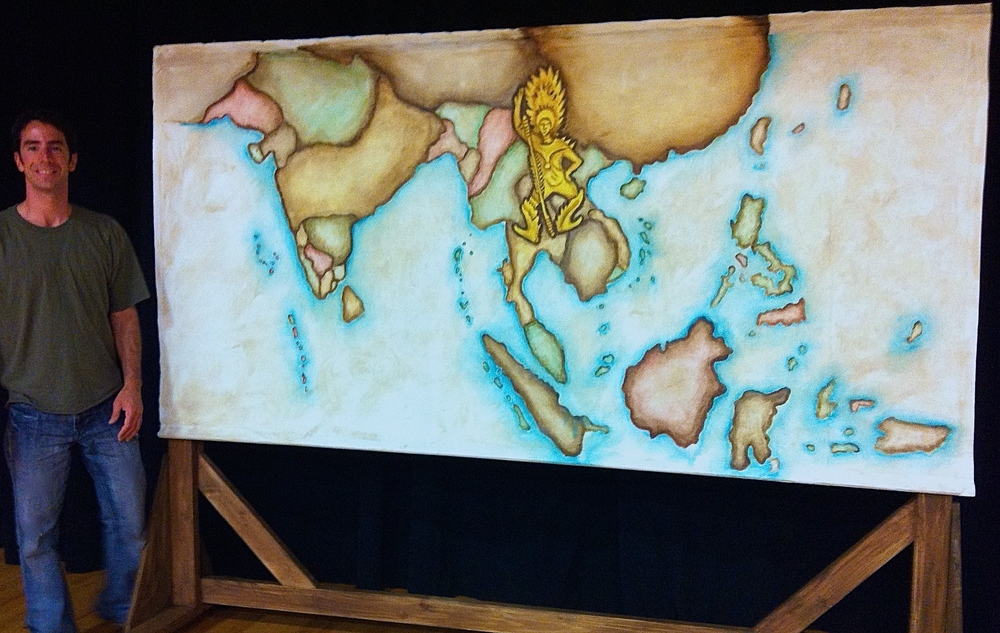 Old World Map Rolling Set Flat by Matthew McAvene for King and I.jpg
