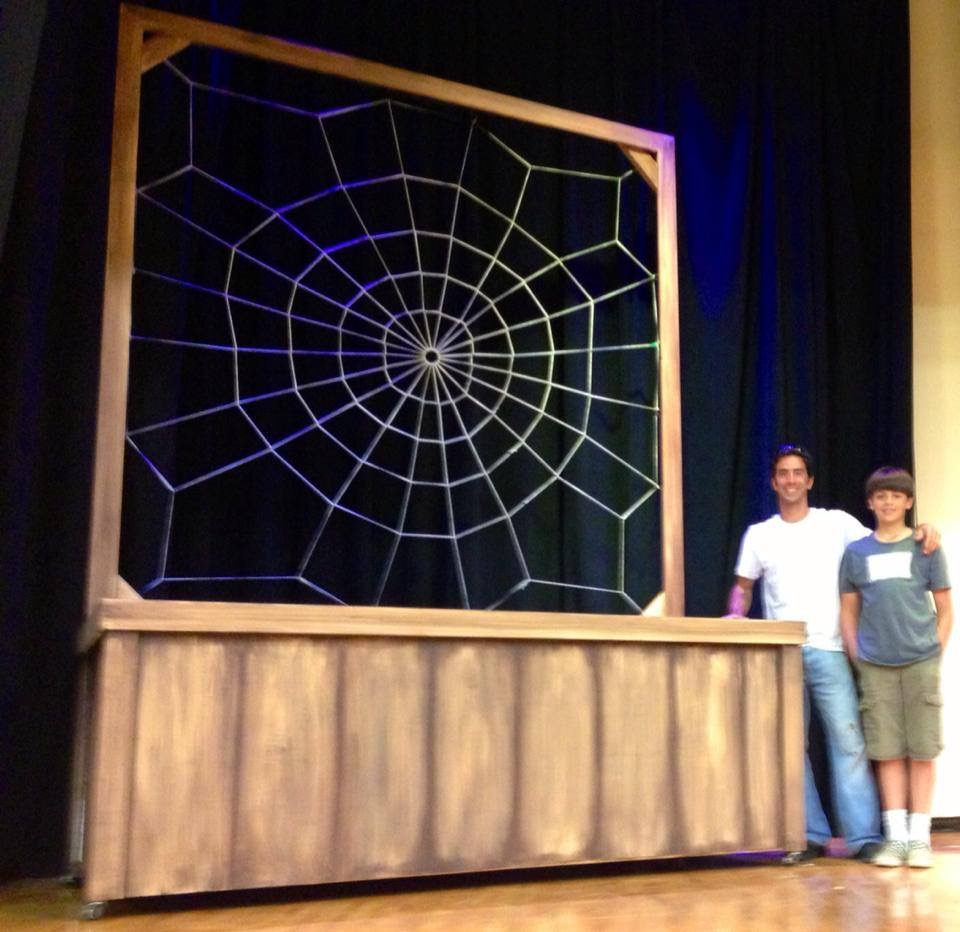 Web Set Piece for Charlottes Web Theatre Production by Matthew McAvene