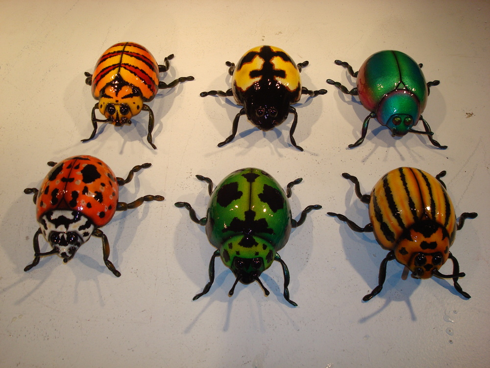 "12"" Beetle Sculptures by Matthew McAvene"