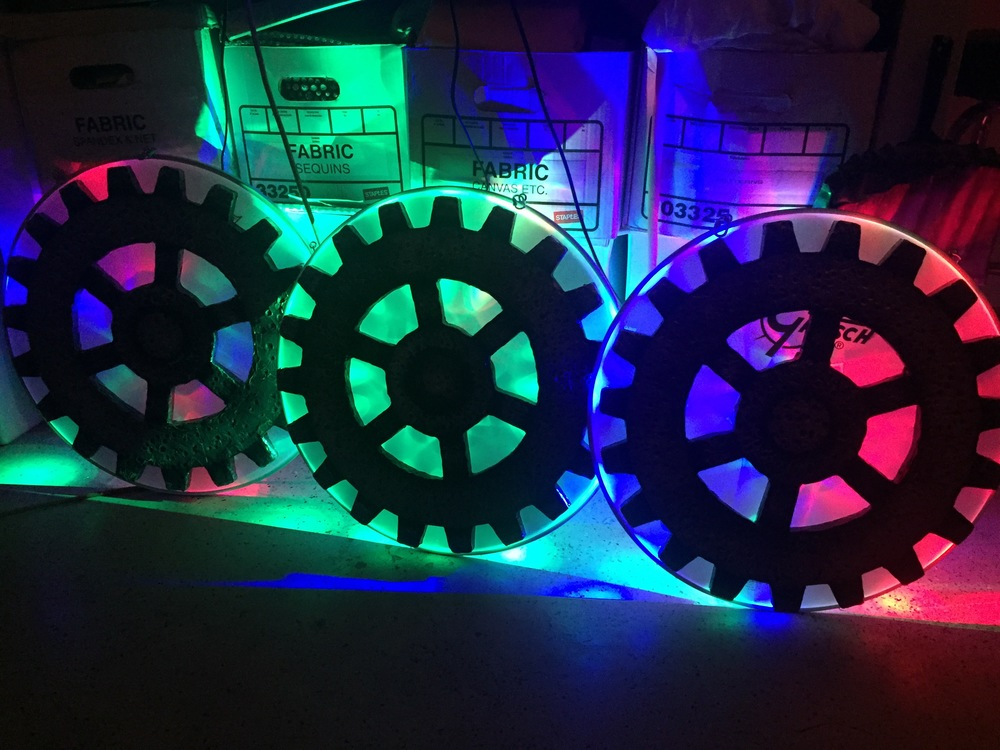 LED & Black Light Gear Props by Matthew McAvene