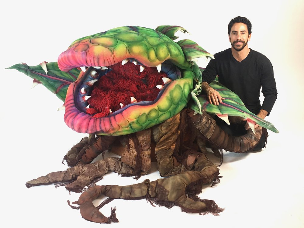 Little Shop of Horrors Puppet Rental.  Audrey II, Puppet #3 with Matthew McAvene.