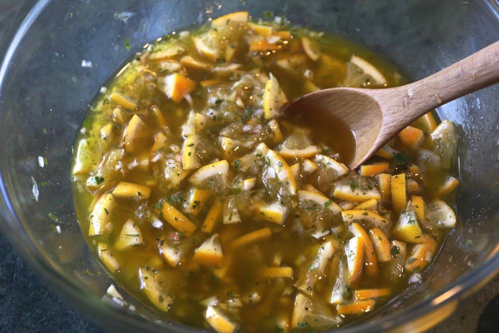 Meyer lemon relish in a bowl