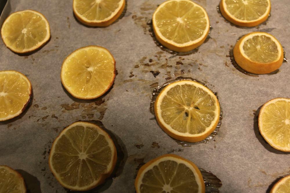 Roasted Meyer lemon slices.