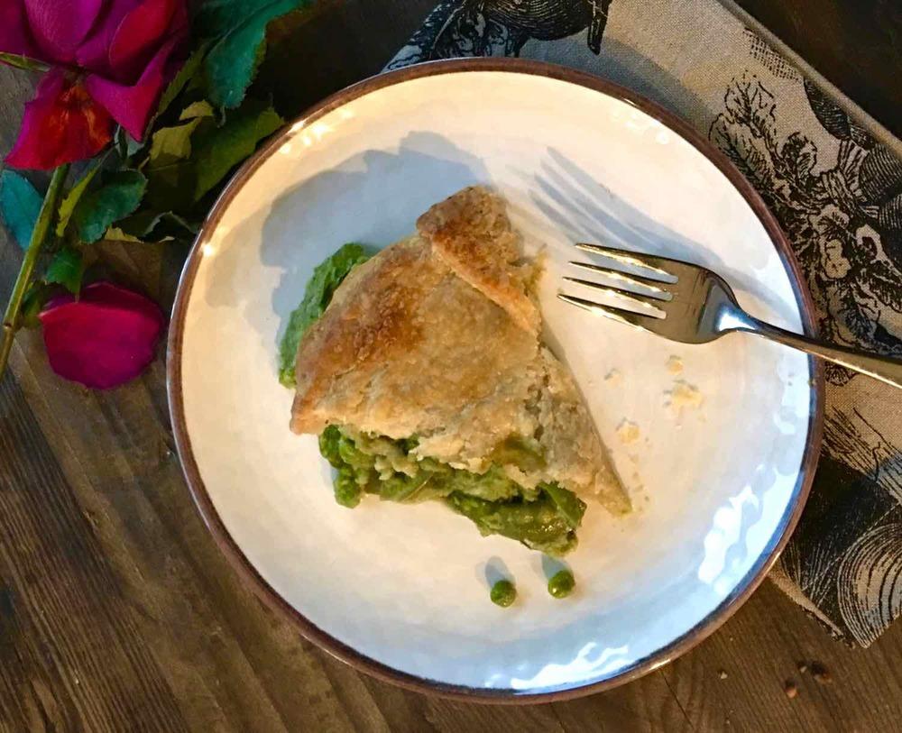 A Slice of Three Pea Pot Pie