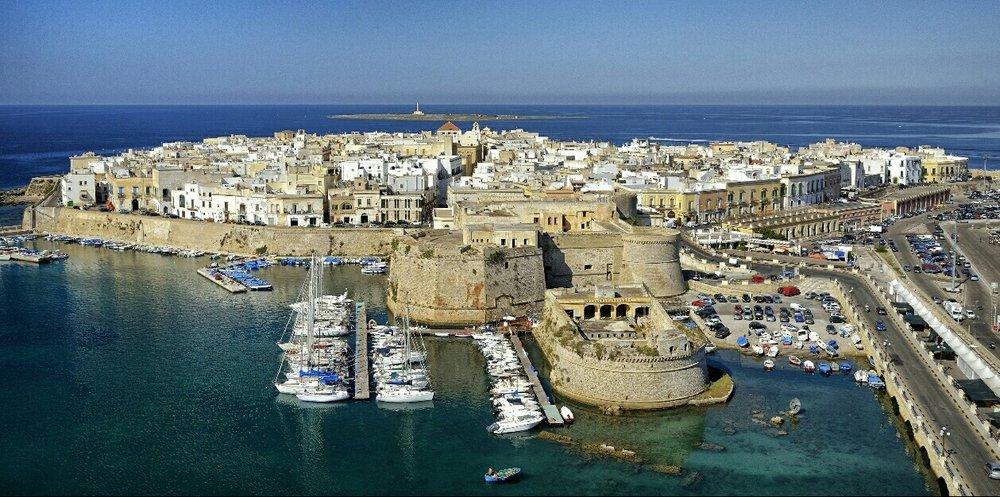 "Port in Puglia (the heel of the ""boot"")"