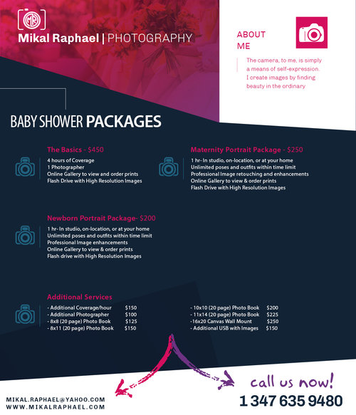 Packages Mikal Raphael Photography