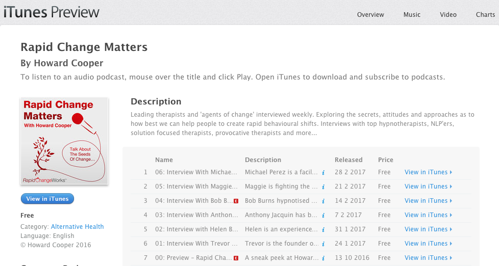 Yes! He got onto iTunes (and stitcher). Every Tuesday since the podcast launched. Check it out!