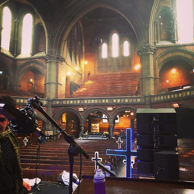 Always a privilege to play in beautiful buildings. The Union Chapel is such a great sounding venue and I'm happy to be covering @mattmcdonough_drums for this 1 Song Gig! #drumming #drumlife #musolife #choir #gigging